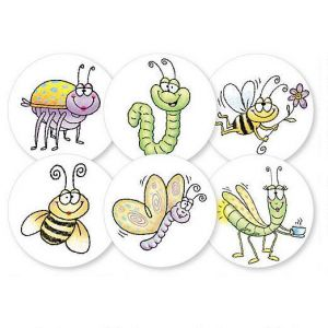 Fun Bugs Envelope Seals  (6 Designs)