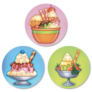 Ice Cream Envelope Seals  (3 Designs)