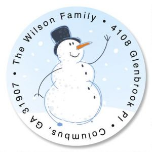 Holiday Sparkle Round Address Labels
