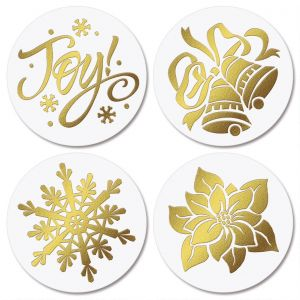 Gold Foil  Envelope Seals  (4 Designs)
