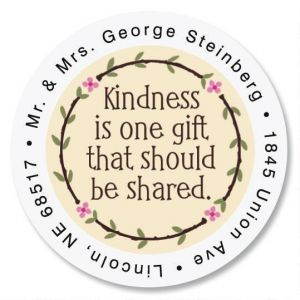 Kindness Round Address Labels