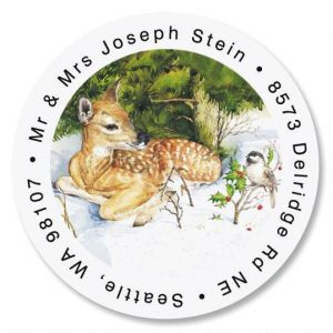 Fawn Round Address Labels