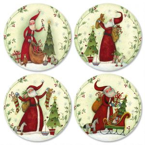 Santas Envelope Seals  (4 Designs)