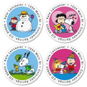 PEANUTS® Year-Round Round Address Labels  (12 Designs)