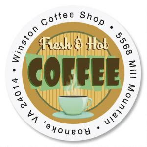 Fresh & Hot Round Address Labels