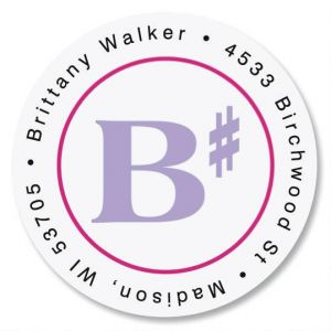 B Sharp Round Address Labels