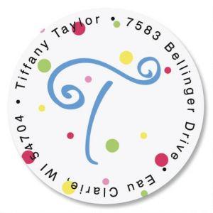 Splatter Dot Initial Round Return Address Labels
