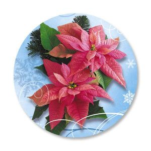 Royal Poinsettia Envelope Seals