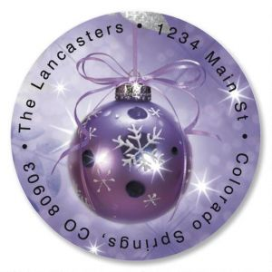 Symphony in Purple Round Address Labels