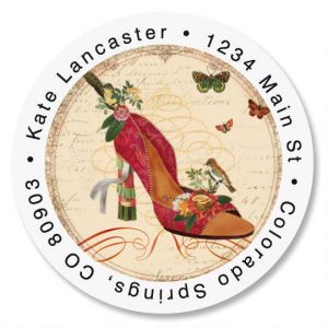 Fashion Fantastic Round Address Labels