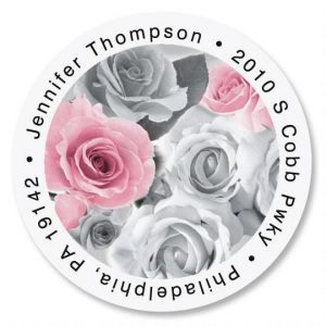 First Blush Round Address Labels