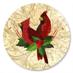 Holiday Cardinals Envelope Seals