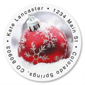 Silver Shimmer Round Address Labels