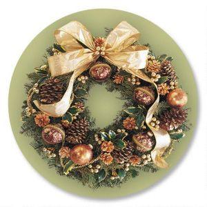 Wreath Magic Envelope Seals