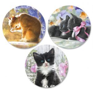 Purrfectly Feline Envelope Seals  (3 Designs)