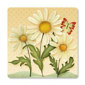 Dusty Blue & Daisies Square Envelope Seals