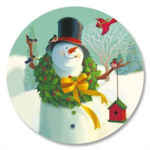 Welcome Snowman Envelope Seals