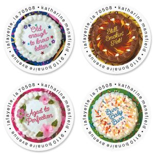Cake Quips Round Address Labels  (4 Designs)