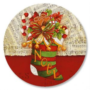 Christmas Stocking Envelope Seals
