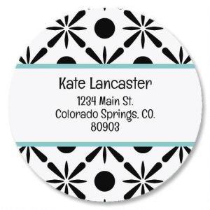 Stately Round Address Labels