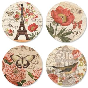 Parisian Postcard Envelope Seals