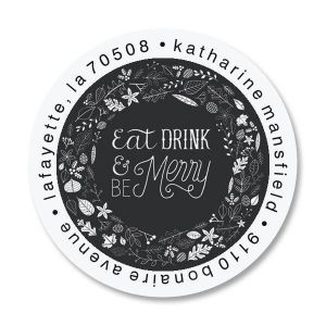 Be Merry Round Address Labels