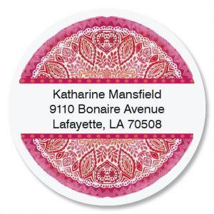 Mandala Treasure Round Address Labels