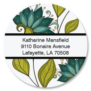 Unique Lotus Round Address Labels