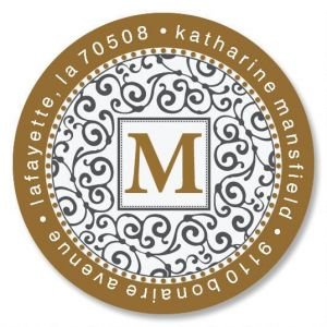 Charming Initial Round Address Labels