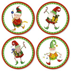 Christmas Elves Envelope Seals (4 Designs)