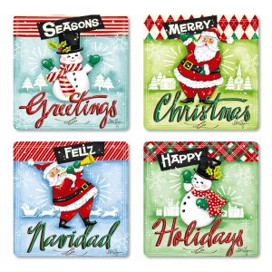 Retro Christmas Envelope Seals (4 Designs)