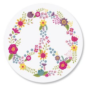 Peace Flower Envelope Seals