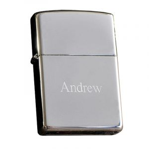 Chrome Personalized Zippo Lighter