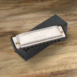 Gleaming Stainless Steel  Personalized Harmonica