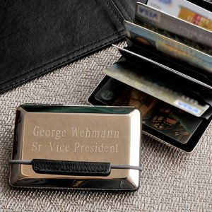 Expandable Personalized  Executive Card Case