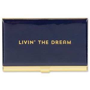 livin the dream business card holder - Square Business Card Holder