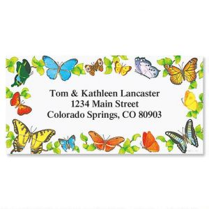 Fluttering Beauties  Border Address Labels