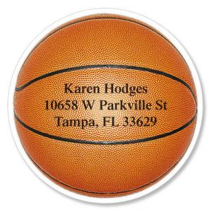 Basketball Diecut Address Labels