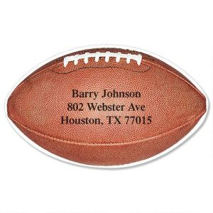 Football Diecut Address Labels