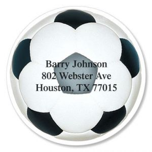 Soccer Ball Diecut Address Labels