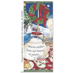 Warm Wishes Supersized Address Labels