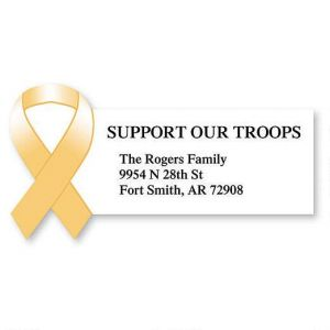 Support our Troops  Diecut Address Labels