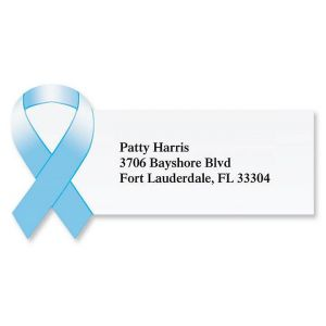 Awareness Ribbon Diecut Address Labels