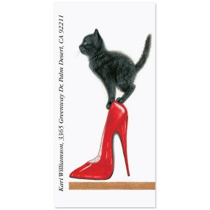 Red Heel Oversized Address Labels