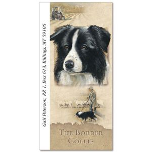 Border Collie Oversize Address Labels