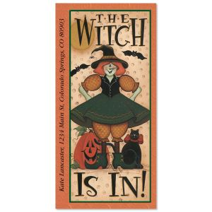 The Witch Is In   Oversized Address Labels