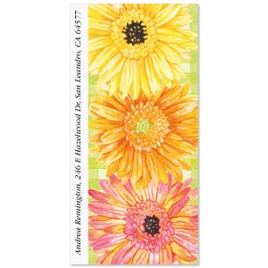 Gerbera Daisy Oversized Address Labels