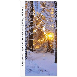Snow Covered Conifer Oversized Address Labels