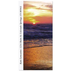 Sunrise On The Shore Oversized Address Labels