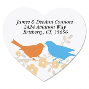 Love Birds Diecut Address Labels
